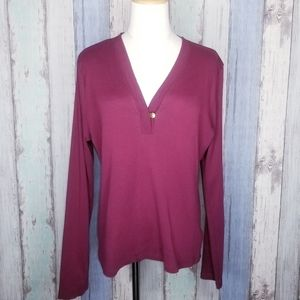 Lauren Ralph Lauren Long Sleeve Top Size L